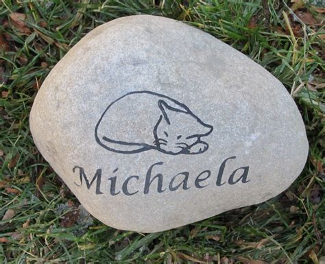 Pet Memorial Garden Stones by Personalized Cat Pet Memorial Garden Grave Headstone