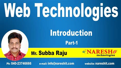 tutorial on web technology pdf introduction to web technologies part 1 web