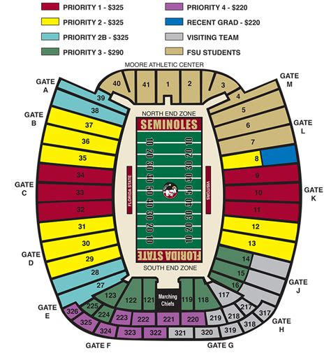 florida state stadium seating chart tickets tix stadchart florida state seminoles official