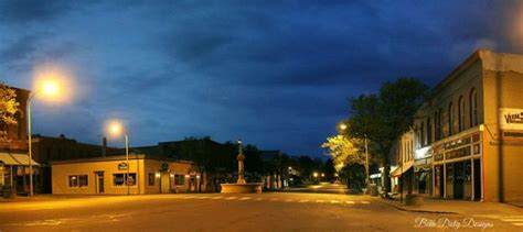 an early morning in downtown geneseo ny the of