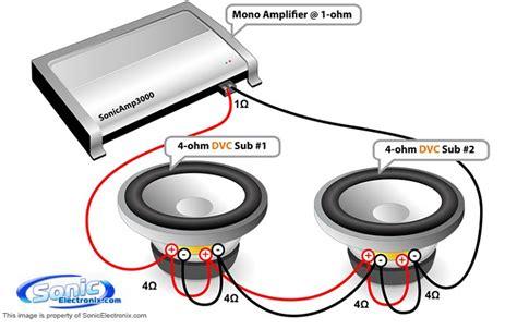 dvc 4 ohm mono wiring diagram get free image about