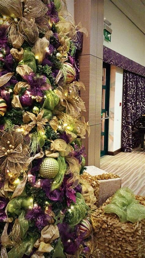 tree decorators for hire lime green and purple trees for hire our lime green and purple trees can be