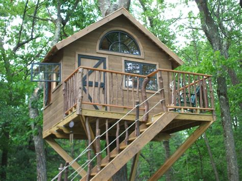 treehouse house handmade whimsical treehouse by wooden hammer llc