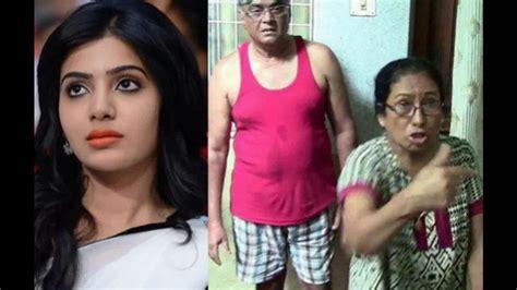 actress samantha parents pics actress samantha parents exclusive photos youtube