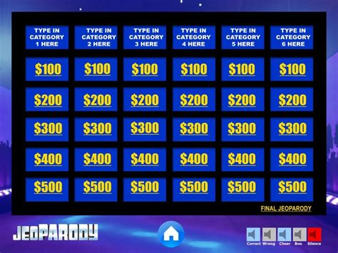 jeopardy powerpoint template with jeopardy template powerpoint madinbelgrade