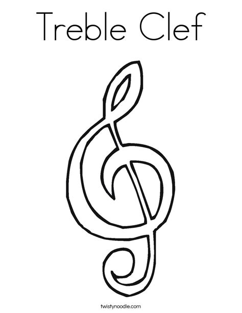Treble Clef Coloring Page free coloring pages of clef