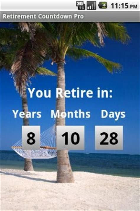 download retirement countdown free for android appszoom