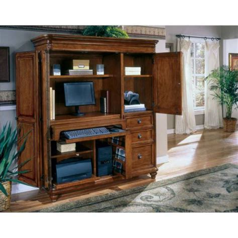 how to combine furniture with mission style computer armoire