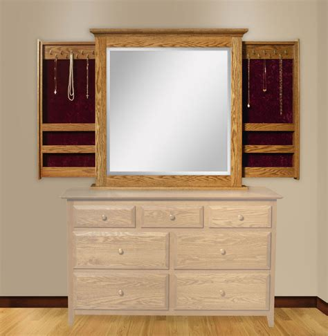 Sliding Dresser by Dresser Mirror With Sliding Jewelry Wings Ohio Hardwood