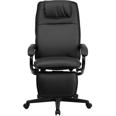 leather office recliner high back black leather executive reclining office chair