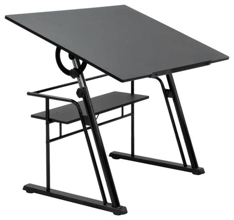 Zenith Drafting Table Black Modern Drafting Tables Modern Drafting Table