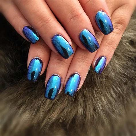 Metallic Nail by 21 Trendy Metallic Nail Designs To Copy Right Now Page 2