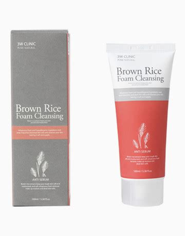 Brown Rice Detox Results by Brown Rice Foam Cleansing By 3w Clinic Products Beautymnl