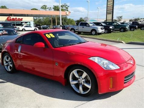 red nissan 2008 nissan 350z red florida with pictures mitula cars