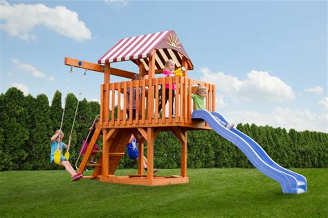 castle swing sets the care bear castle stained wood swingsets lancaster