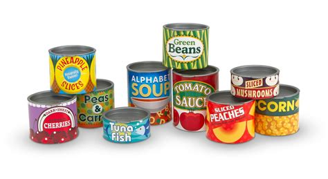 amazon cooking amazon com melissa doug let s play house grocery cans