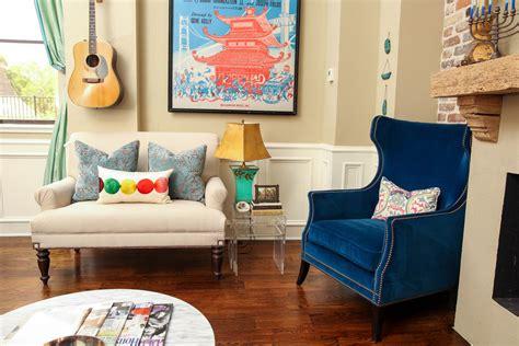 Blue Chairs For Living Room Blue Velvet Chairs Living Room Eclectic With Artistic Living Room Beeyoutifullife