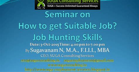 Got Microsoft Internship Mba by Suga Employment Services Seminar On How To Get Suitable