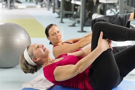 stomach exercises  senior women livestrongcom