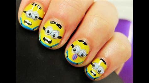 imagenes de uñas acrilicas de los minions dise 241 o de u 241 as 19 despicable me minions mi villano