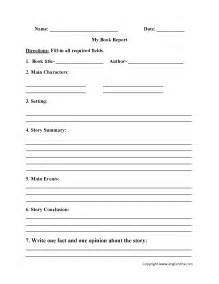 Book Report In 6 by Englishlinx Book Report Worksheets