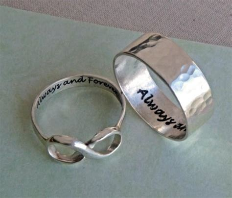 his and infinity rings his and hers infinity ring set always and forever rings