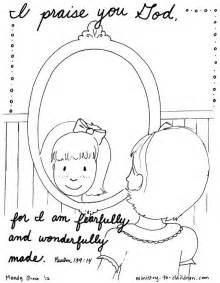 Psalm 139 Coloring Page I Praise You For I Am Fearfully Psalm 139 Coloring Page