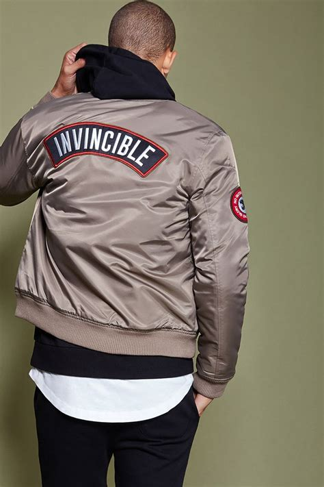 Jaket Bomber Taslan Waterproof Arsenal invincible patch bomber jacket style