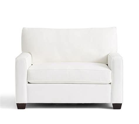 pottery barn sleeper sofa buchanan square arm upholstered twin sleeper sofa