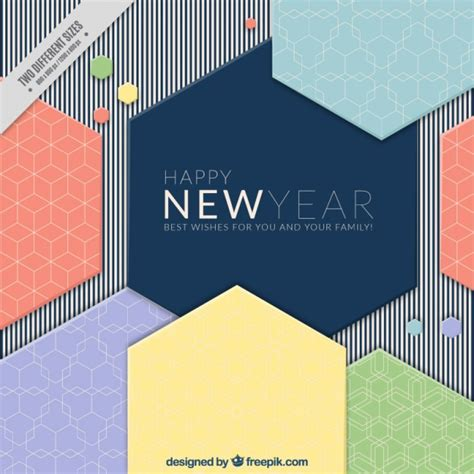 modern new year modern new year background with geometric shapes vector