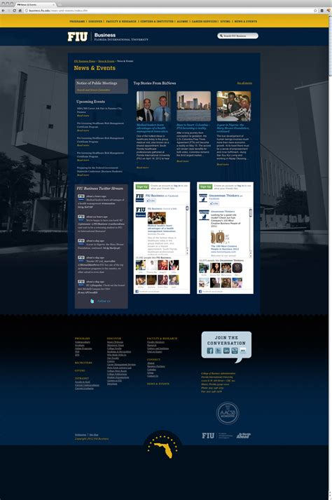 design event website fiu business website design by go media