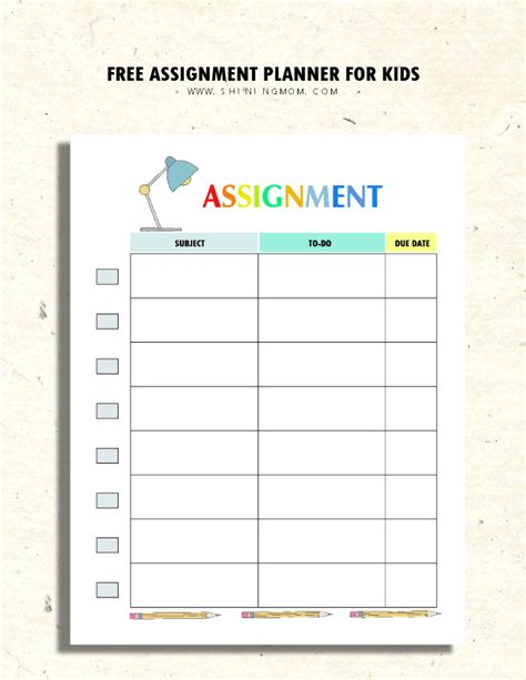 printable homework planners for students 200 free amazing student organization printables