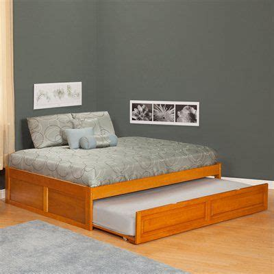simple full size trundle bed  twin  mattress