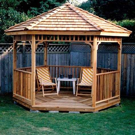 hexagon cedar gazebo kit ft