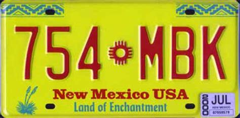 New Mexico Vanity Plates by A License Plate Map Of The Nation Geomattix