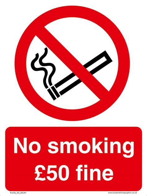 No Smoking Sign With Fine | no smoking 163 50 fine smoking prohibition sign