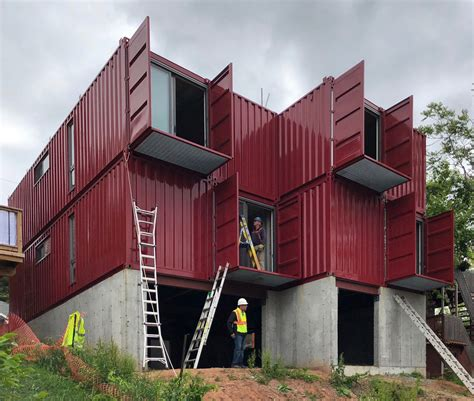 hamiltons  shipping container home  built