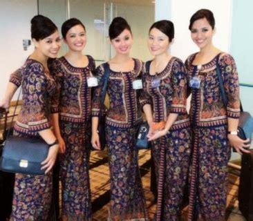 Batik Narita Panjang 20 model baju batik pramugari 2017 model baju batik kantor