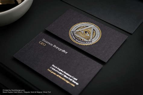 Black Business Cards Luxury Business Card Template
