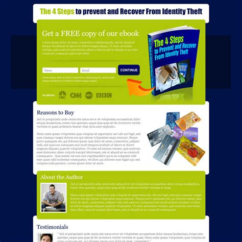 Book Layout Sles | book landing page exles images