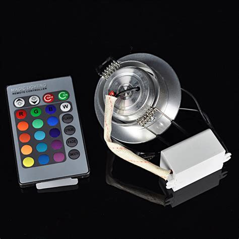 remote recessed lights 3w rgb led recessed ceiling light spotlight downlight l