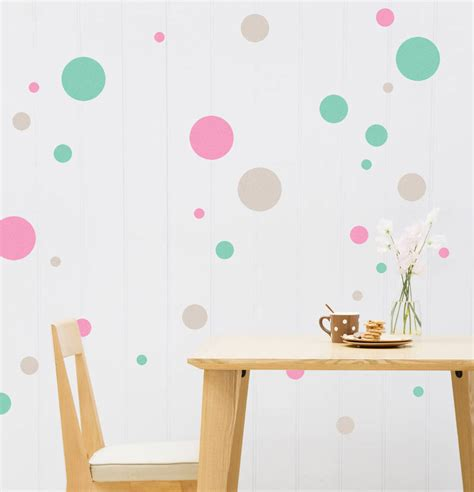 wall stickers polka dots coloured polka dot wall stickers by snuggledust studios