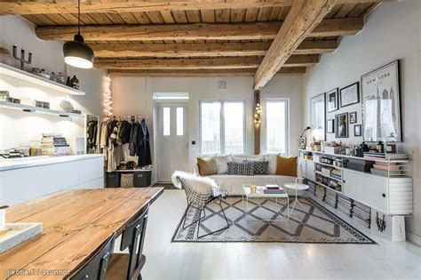 Long Narrow House Floor Plans Modern White Meets Warm Wood In This Finnish Apartment