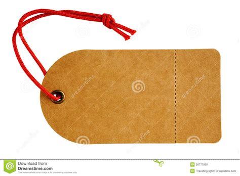 cardboard swing tags sales tag or swing ticket in brown cardboard stock photo