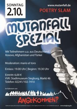 Poetry Slam Dresden 2016 by Kreisstadt Siegburg Mutanfall Nach Der Balkanroute
