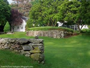stacked rock wall garden design rock