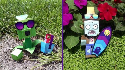 Plants Vs Zombies Paper Crafts - plants vs zombies paper craft time lapse