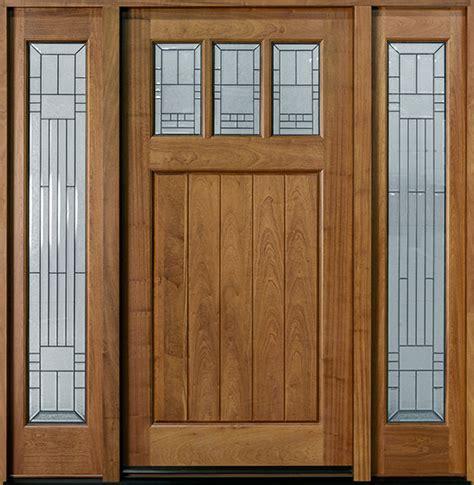 front door custom single with 2 sidelites solid wood