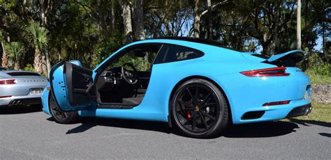 blue porsche 911 2017 porsche 911 s drive in miami blue