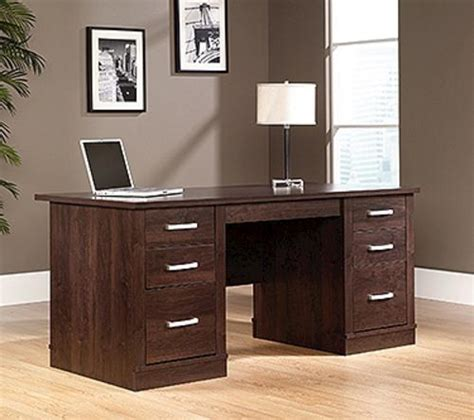 sauder office port alder executive desk at menards 174